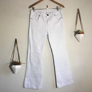 Kut from the Kluth Chrissy flare white jeans